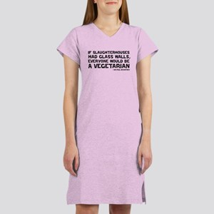 if slaughterhouses... Women's Nightshirt