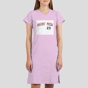 Deeds' Pizza Women's Pink Nightshirt