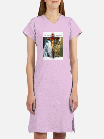 Crucifix/Pieta/St Francis Women's Nightshirt