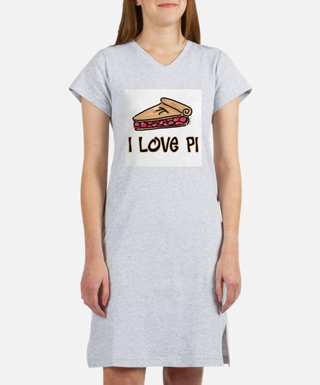 I Love PI Women's Pink Nightshirt