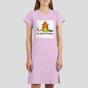 Rather be knitting Women's Nightshirt