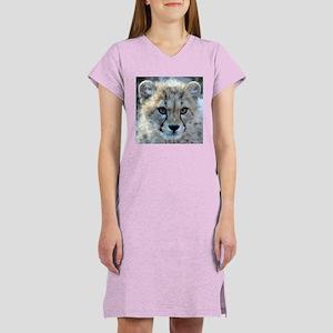 Cheetah Cub Women's Pink Nightshirt