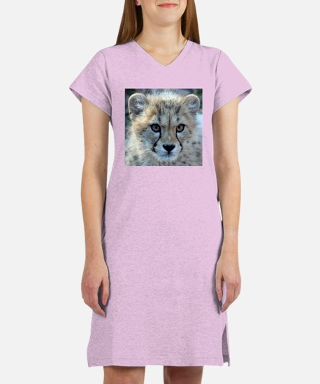 Cheetah Cub Women's Pink Nightshirt