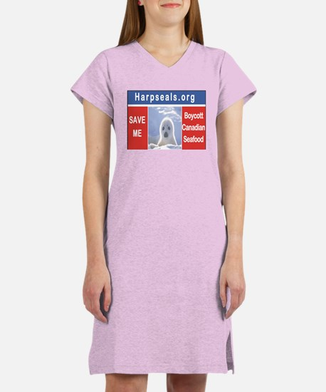 Save the seals Women's Nightshirt