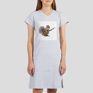 Squirrel Guitar Women's Nightshirt
