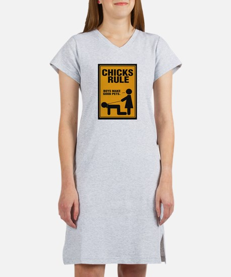 Chicks Rule Women's Pink Nightshirt