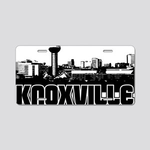 Knoxville Skyline Aluminum License Plate