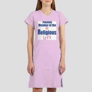 RELIGIOUS LEFT Women's Nightshirt, pink celtic cro