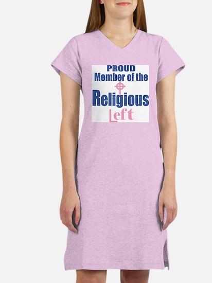RELIGIOUS LEFT Women's Nightshirt, pink celtic cro