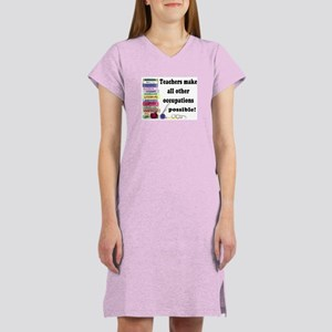 """Teacher Occupations"" Women's Nightshirt"