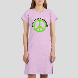 Give Peas A Chance Women's Nightshirt