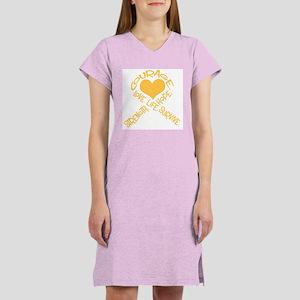 Gold Ribbon of Words Women's Nightshirt