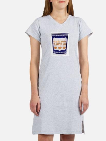 Greek Coffee Cup Women's Nightshirt