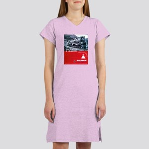 Baldwin S-2 Steam Locomotive Women's Pink Nightshi