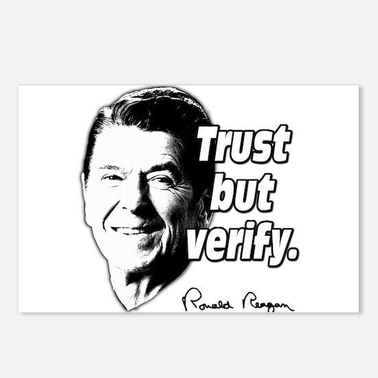 Ronald Reagan Quote Trust But Verify Postcards (Pa