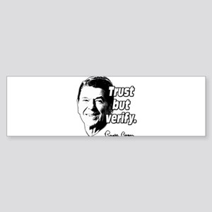 Ronald Reagan Quote Trust But Verify Sticker (Bump