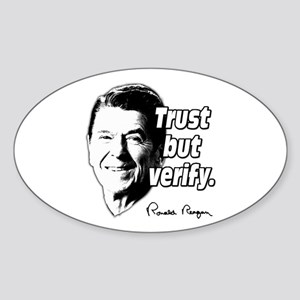 Ronald Reagan Quote Trust But Verify Sticker (Oval