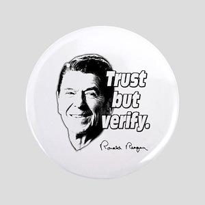 "Ronald Reagan Quote Trust But Verify 3.5"" Button"