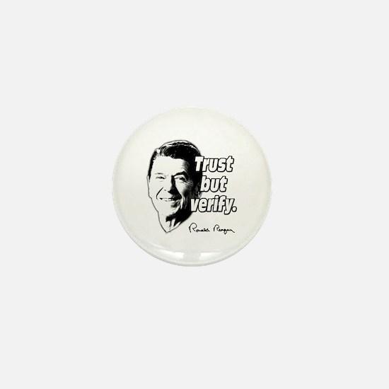 Ronald Reagan Quote Trust But Verify Mini Button