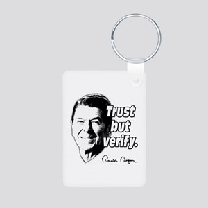 Ronald Reagan Quote Trust But Verify Aluminum Phot