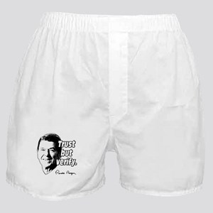 Ronald Reagan Quote Trust But Verify Boxer Shorts