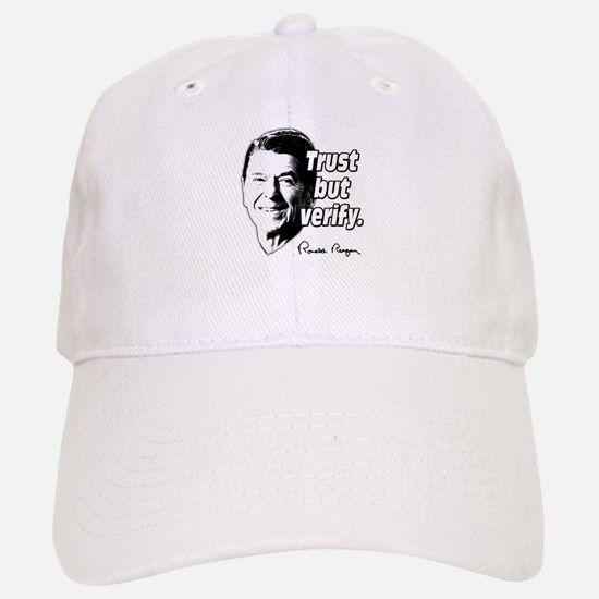 Ronald Reagan Quote Trust But Verify Baseball Baseball Cap