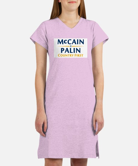 Country First - McCain Palin Women's Nightshirt