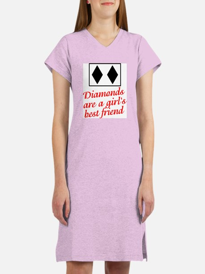 Diamonds: girl's best friend Women's Pink Nightshi