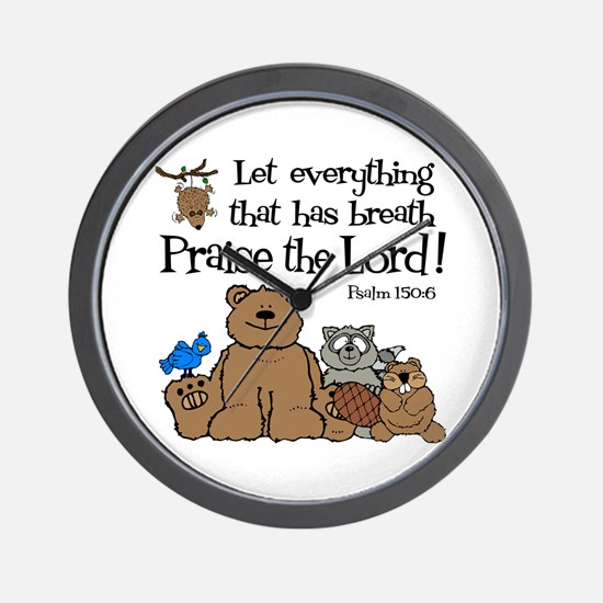 Psalm 150:6 Wall Clock