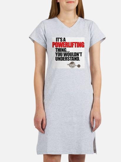 POWERLIFTING BENCH PRESS Women's Pink Nightshirt
