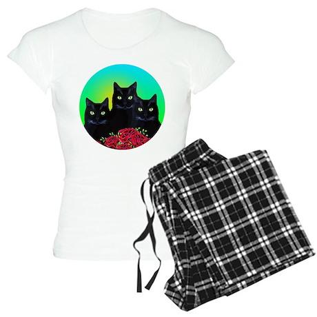 Black Cats Women's Light Pajamas