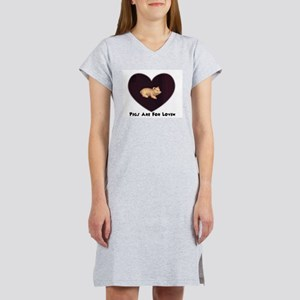 PIGS ARE FOR LOVIN (HEART) Women's Pink Nightshirt