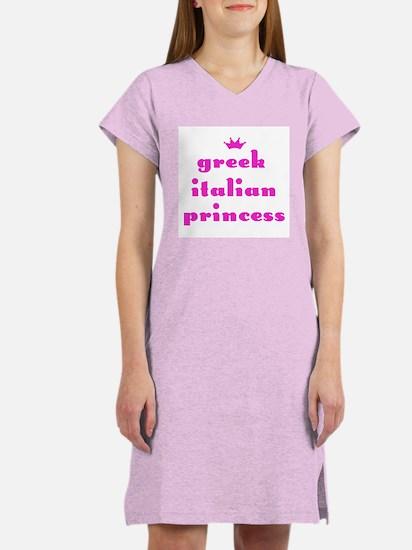Greek Italian Princess (pink) Women's Nightshirt