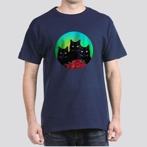 Black Cats Dark T-Shirt