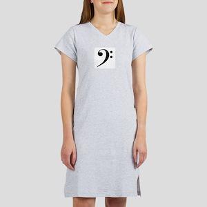 Bass Clef Women's Nightshirt