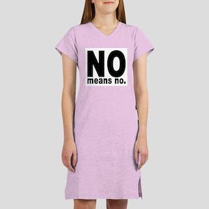 NO means NO. Women's Pink Nightshirt