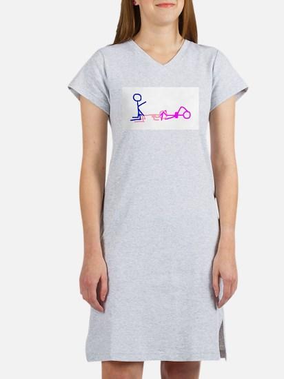 Stick figure 1 Women's Pink Nightshirt