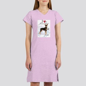 Miniature Pinscher Women's Nightshirt