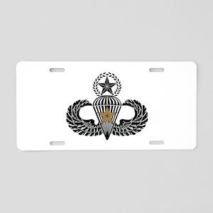 Combat Parachutist 1st awd Master B-W Aluminum Lic