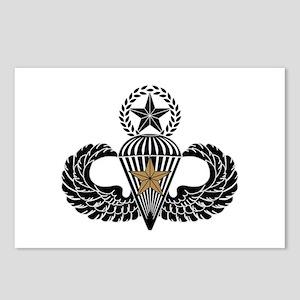 Combat Parachutist 1st awd Master B-W Postcards (P