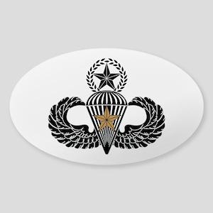 Combat Parachutist 1st awd Master B-W Sticker (Ova