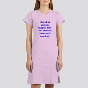 Statistically in Tune . . . Women's Nightshirt