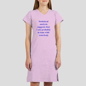 Statistically in Tune . . . Women's Nightshirt
