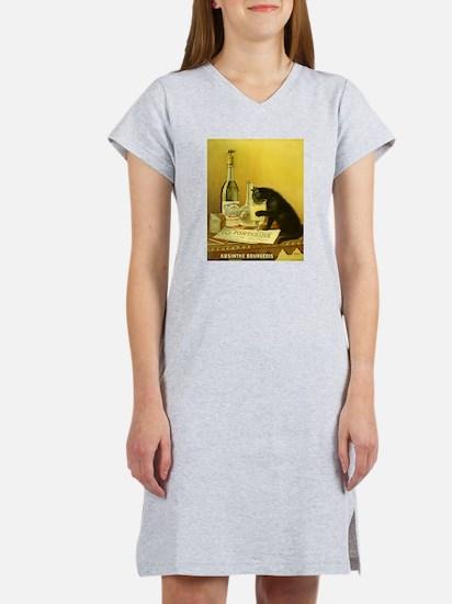Absinthe Bourgeois Chat Noir Women's Nightshirt