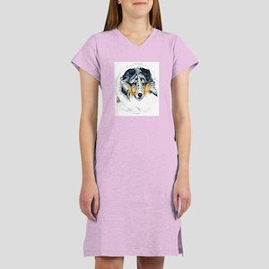 Blue Merle Shetland Sheepdog Women's Nightshirt