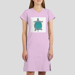 Turtle in Turquoise Women's Nightshirt