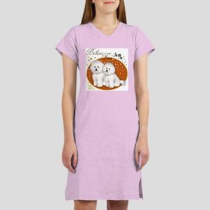 BICHON FRISE DOGS Women's Nightshirt