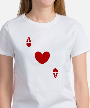 Ace of hearts card player Women's T-Shirt