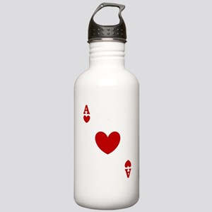 Ace of hearts card player Stainless Water Bottle 1