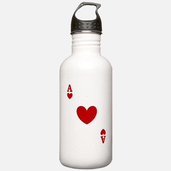 Ace of hearts card player Sports Water Bottle